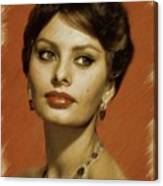 Sophia Loren, Vintage Actress Canvas Print