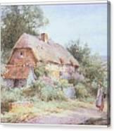 Stannardhenryjohnsylvester Girllookingatacottage-we F018 Henry  Sylvester Stannard Canvas Print