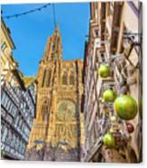 Strasbourg,christmas Market, Alsace France  Canvas Print
