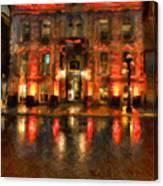 Street Reflections Canvas Print