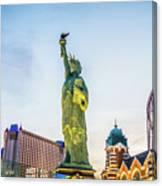 Street Scenes Around Las Vegas Nevada At Dusk Canvas Print
