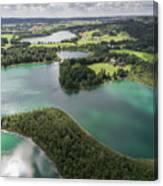 Suwalki Landscape Park, Poland. Summer Time. View From Above. Canvas Print