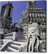 Temple Detail In Bangkok Thialand Canvas Print