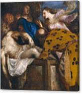 The Burial Of Christ Canvas Print