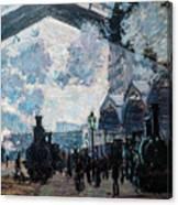 The Gare St Lazare Canvas Print