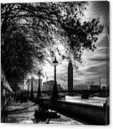 The River Thames Path Canvas Print