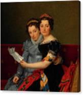The Sisters Zenaide And Charlotte Bonaparte Canvas Print