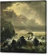 The Voyage Of Life - Manhood Canvas Print
