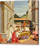 Three Miracles Of Saint Zenobius Canvas Print