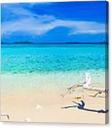 Tropical Beach Malcapuya Canvas Print