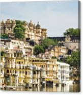 Udaipur City Palace In Rajasthan Canvas Print