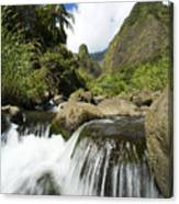 View Of Iao Needle Canvas Print