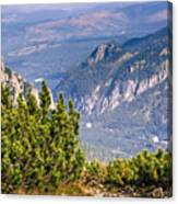 View Of Tatra Mountains From Hiking Trail. Poland. Europe. Canvas Print