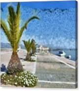 Walkway In Nafplio Town Canvas Print