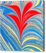 Water Marbling Art, Ebru Canvas Print