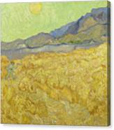 Wheatfield With A Reaper Canvas Print