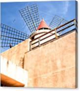 Windmill - Trapani Salt Flats Canvas Print