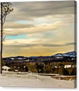 Winter Landscape And Snow Covered Roads In The Mountains Canvas Print