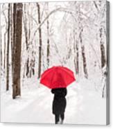 Winter Walk Canvas Print