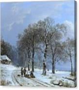 Winterlandschap Canvas Print