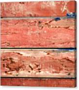 Wood Background With Faded Red Paint Canvas Print
