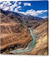 Zanskar River Ladakh Jammu And Kashmir India Canvas Print