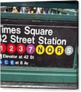 42 Street Station Nyc Canvas Print
