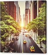 42nd Street In New York During The Day  Canvas Print
