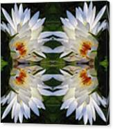 White Lotus Mandala Canvas Print