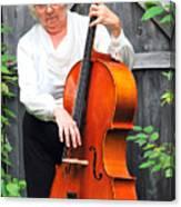 Female Cellist. Canvas Print