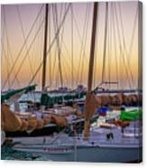 4956- Key West Harbor At Sunset Canvas Print