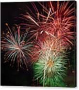 4th Of July Fireworks Display Portland Oregon Canvas Print