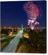 4th Of July Fireworks Portland Oregon Canvas Print