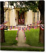 4th Of July Home Canvas Print