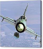 A Bulgarian Air Force Mig-21bis Armed Canvas Print