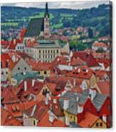 A View Of Cesky Krumlov In The Czech Republic Canvas Print
