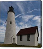 Bakers Island Lighthouse Salem Canvas Print