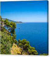 Deep Blue Sea And Golden Beaches Canvas Print
