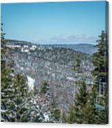 Beautiful Nature And Scenery Around Snowshoe Ski Resort In Cass  Canvas Print