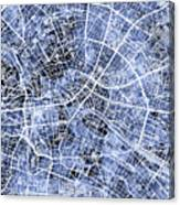 Berlin Germany City Map Canvas Print