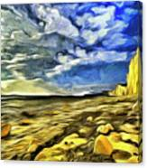 Birling Gap And Seven Sisters Art Canvas Print