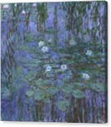 Blue Water Lilies Canvas Print