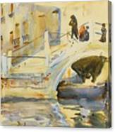 Bridge With Figures Canvas Print