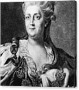 Catherine II (1729-1796) Canvas Print