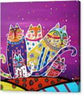 5 Cats Canvas Print
