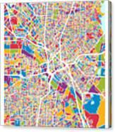 Dallas Texas City Map Canvas Print