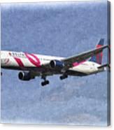 Delta Airlines Boeing 767 Art Canvas Print