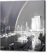Docklands Double Rainbow Canvas Print