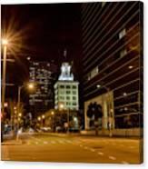 Downtown Tampa Florida Skyline At Night Canvas Print