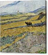 Enclosed Field With Ploughman Canvas Print